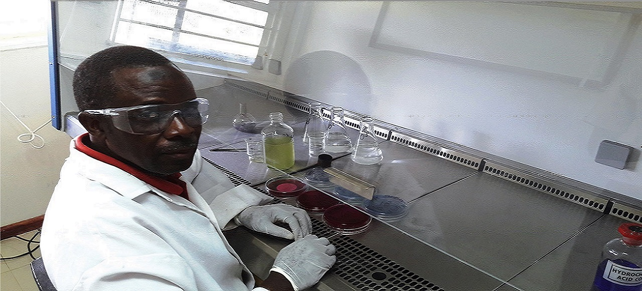 We analyse for parameters in Microbiology Wet